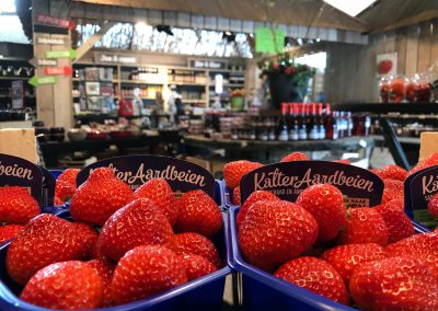 Winkel met aardbeien